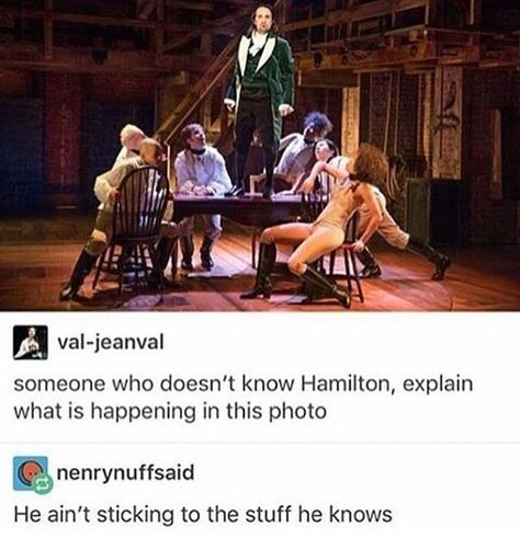 No wait she said someone who HASNT listened to Hamilton I don't think you understood.<<<<< Lol I love when this happens. Also I haven't seen Hamilton and with all the hype it's gotten that quickly calmed down, idk Alexander Hamilton, High School Musical, High School Memes, Funny School, Theatre Nerds, Musical Theatre, Geeks, Ft Tumblr, Broadway