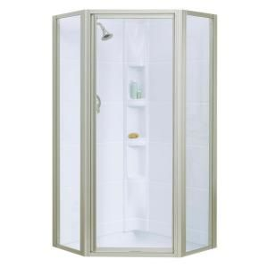 Sterling Intrigue 36 1 8 In X 72 In Neo Angle Shower Door In
