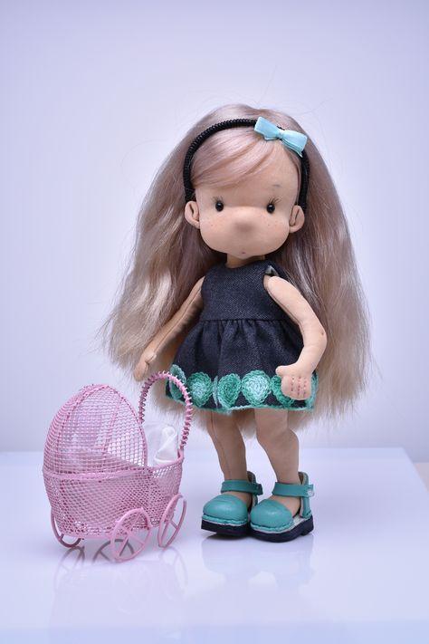 handmade doll rag doll  cloth doll textile doll fashion doll collectible doll fabric doll eco doll