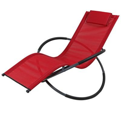 Sunnydaze Decor Orbital Folding Rocker Steel Outdoor Lounge