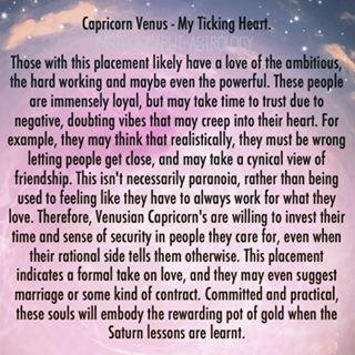 """Reposting from another favorite astrologer and author of mine #imstuckinarutastrology go and check out her tumblr and also her book called """"A collection of stardust"""" - I always search for and aim to provide the truth on this account and would be wrong not to share these accurate posts. #Capricorn #capricornvenus #venusincapricorn #venus #astrology #badastrology #starsigns #zodiac #emmahill"""