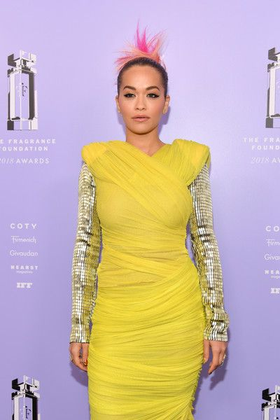 Singer Rita Ora attends the 2018 Fragrance Foundation Awards at Alice Tully Hall.