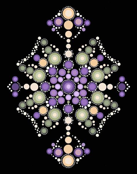 110 mandala musterideen  mandala muster punktmalerei