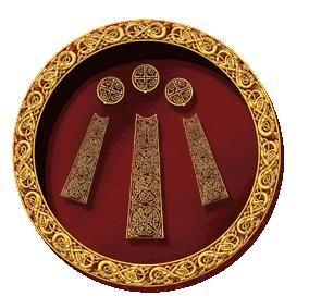 Awen, en gaélico significa inspiración. Este símbolo representa la armonía entre lo opuesto. En él se muestra al hombre en un extremo y a la mujer al otro, y la raya que se encuentra en el medio simboliza la armonía entre ellos