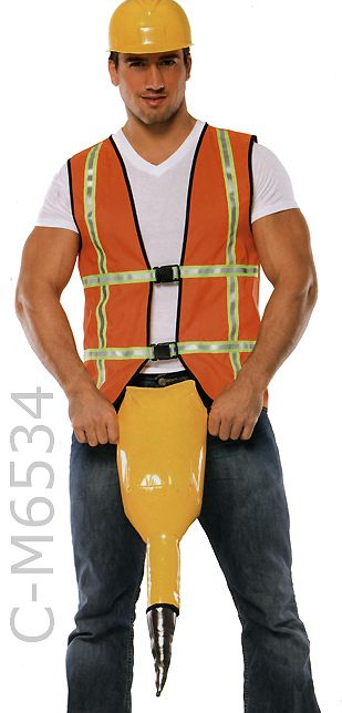 Male Construction Worker Costume | M6534 Jack Hammer Construction ...