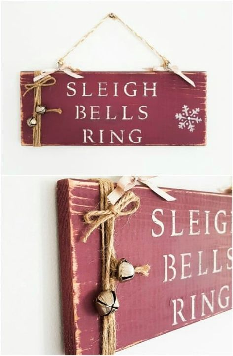 30+ Unique DIY Wooden Signs For Christmas Decorating