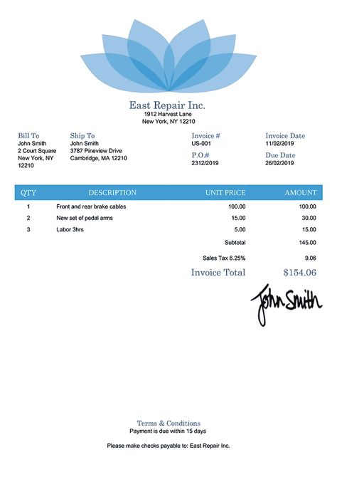 Pin On Simple Invoice Design Templates