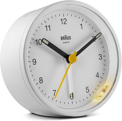 Amazonsmile Ameico Braun Classic Analogue Alarm Clock Bc12w Watches Analog Alarm Clock Alarm Clock Clock