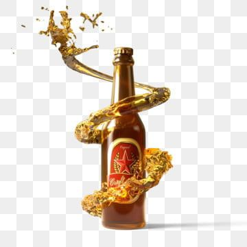 Beer Bottle And Spiral Splash Liquid 3d Element Beer Bottle Clipart Spiral Beer Bottle Png Transparent Clipart Image And Psd File For Free Download Beer Bottle Splashing Liquid Bottle