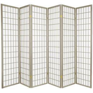 Oriental Furniture 6 Ft Grey Window Pane 6 Panel Room Divider Wpsp 6p Grey In 2020 Panel Room Divider Room Divider Oriental Furniture
