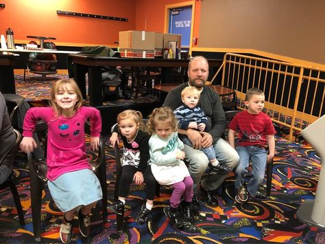 company Jeff and the grandkids at the...
