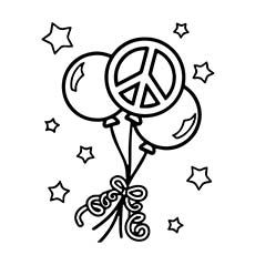 32 Peace Sign Coloring Page in 2020 (With images) | Love coloring ... | 230x230