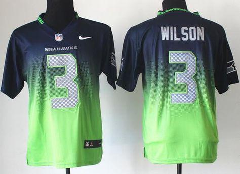 Nike Seattle Seahawks 3 Russell Wilson Blue Green Green Yellow Drift  Fashion II Elite NFL Jerseys 3037acd83