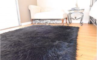 Black Faux Fur Rug 7 X 10 Faux Fur Area Rug Black Faux Fur Rug Rugs
