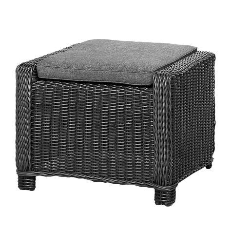 Hocker Sevilla - Polyrattan - Graphit, Best Freizeitmöbel Jetzt - lounge gartenmobel gunstig