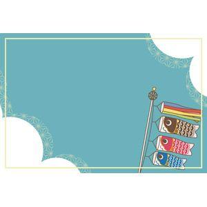 フリーイラスト ベクター画像 Eps 背景 フレーム 囲みフレーム 年中行事 端午 菖蒲の節句 こどもの日 5月 こいのぼり 鯉のぼり イラスト 端午の節句 手作り ペンイラスト