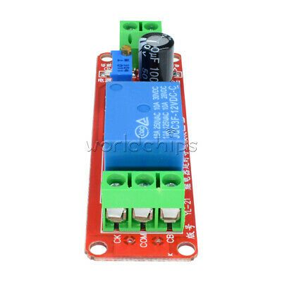 Details About 10pcs 12v Dc Conduction Delay Relay Shield Module Ne555 Timer Switch 0 10 Sec Relay Conduction Timer