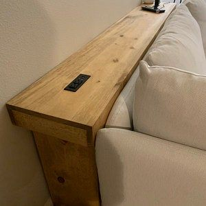 console table sofa table entryway table  recycled material custom made farmhouse style