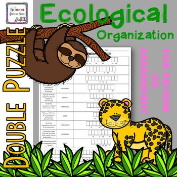 Ecological Organization Double Puzzle For Review Or Assessment Organization Assessment Ecology