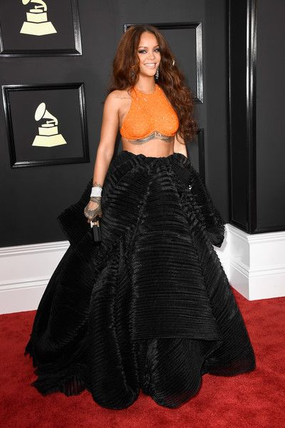 Rihanna in Armani Prive at the Grammy Awards - The Biggest Red Carpet Risk-Takers of 2017 - Photos
