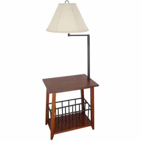 Legacy Home Collection Magazine Rack Floor Lamp Mission Oak Brown Floor Lamp Lighting Home