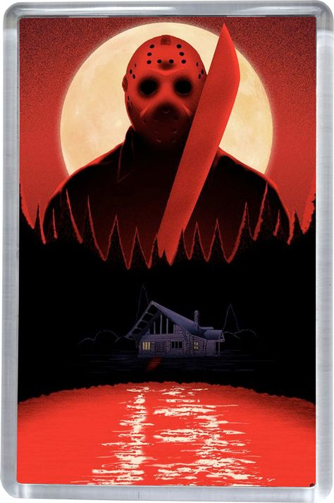 Friday 13th - Blood Lake - Fridge Magnet 5CM X 7.5CM by SuperUniverse on Etsy