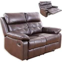 2 Sitzer Sofa Dunkelbraun Kunstleder Relaxfunktion Rollerroller Sofa Mit Relaxfunktion Moderne Couch 2 Sitzer Sofa
