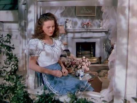 """State Fair (Rogers and Hammerstein), """"It Might as Well Be Spring.""""  This is the 1945 movie version, with Jeanne Crain."""