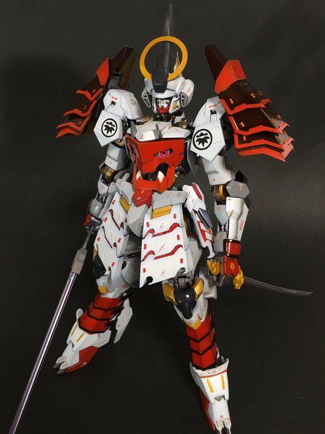 1/100 Yoshitsune Gundam Barbatos - Custom Build     Modeled by goad