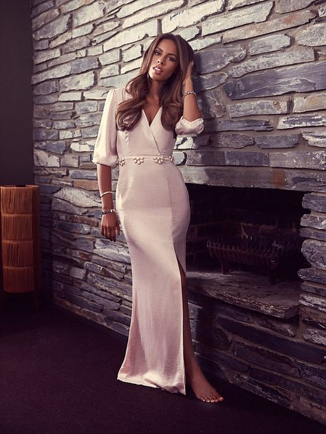 Xtra Factor presenter and pop starRochelle Humes is ethereal as she models her latest range for Very.co.uk
