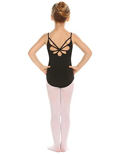 Arshiner Girls Ballet Pink Back Hollow Out with Single Strap Leotards
