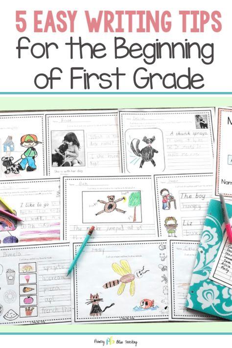 TEACHING BEGINNING OF YEAR FIRST GRADE WRITING HAS NEVER BEEN EASIER