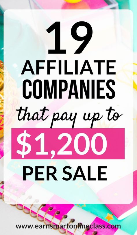 Looking for the perfect affiliate programs to make you money from your blog? Look no further! Here is a list of 19 affiliate programs that can pay you up to $1,200 in affiliate commissions. All you have to do is get the affiliate products to the right audience and you will have money in your pocket. Click to find out more! #makemoneyblogging #affiliate #affiliatemarketing #onlinebusiness #entreprenuer #startup #workfromhome #makemoneyfromhome #makemoneyonline #bloggingtips #bloggingformoney