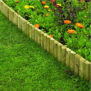 Wickes Dome Top Timber Border Edging 230 X 1000 Mm Garden Border Edging Flower Bed Borders Timber Garden Edging