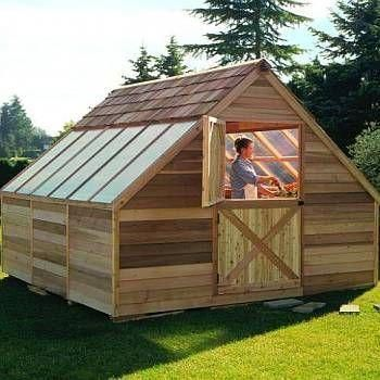 Cedar Greenhouse Kit 12ft X 12ft Build A Greenhouse Cedar Greenhouse Home Greenhouse