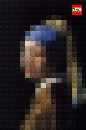 Girl with the Pearl Earring | Art recreated with Lego