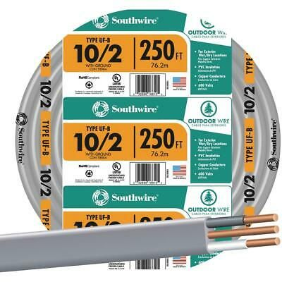 Details About Southwire 250 Ft 10 Awg 2 Conductor Ufw G Wire 13056755 1 Each In 2020 Conductors 10 Things Underwriting