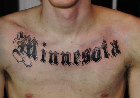 Minnesota chest tattoo 2013