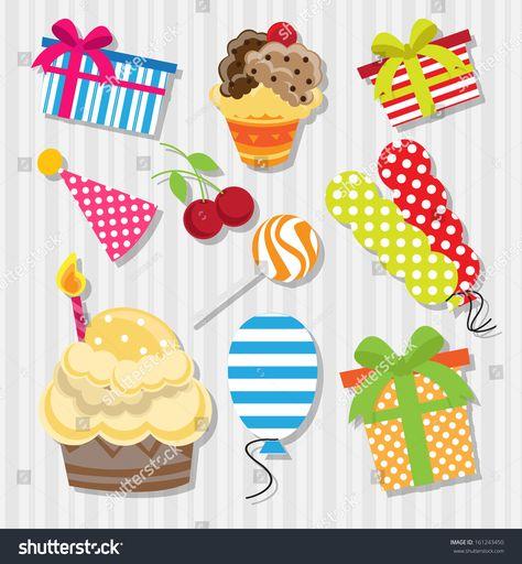 birthday element set #Ad , #Affiliate, #birthday#element#set