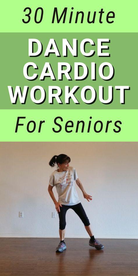 30 minute aerobic dance workout for seniors Zumba Fitness, Fitness Workout For Women, Senior Fitness, Fitness Diet, Health Fitness, Senior Workout, Dance Fitness, Walking Training, Walking Exercise