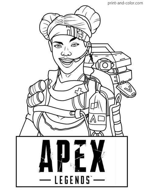 @mostwantedcharacter Pinterest pin Apex Legends coloring ...