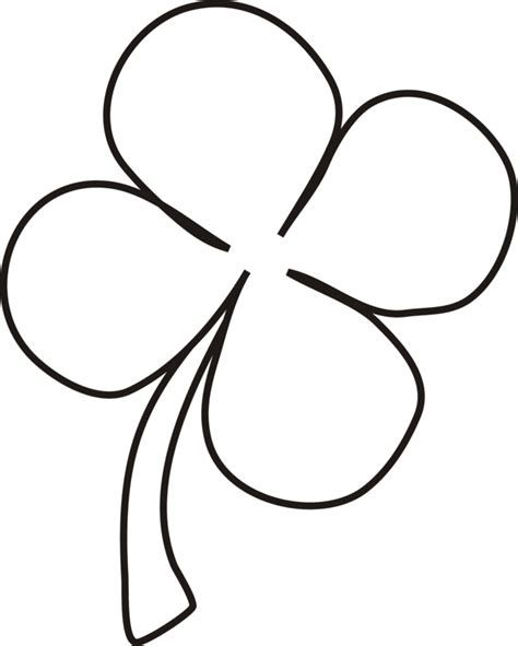 Coloring Page 4 Leaf Clover