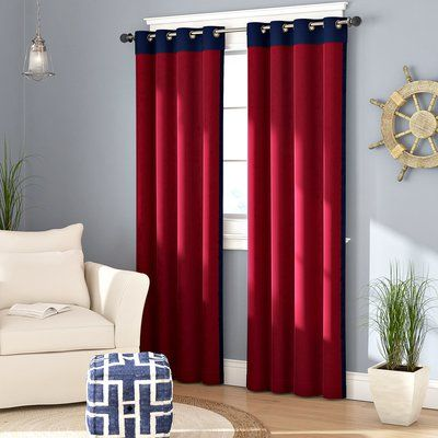 Beachcrest Home Annabella Solid Room Darkening Grommet Curtain