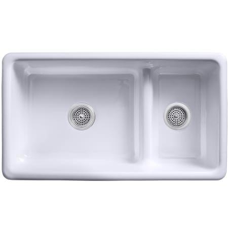 Kohler K 6625 47 Almond Iron Tones 33 Drop In Double Basin Cast Iron Kitchen Sink Sink Kitchen Sink Design Cast Iron Kitchen Sinks