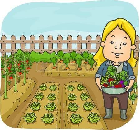 Jardin Clipart 2 Vegetable Garden Clip Art Illustration