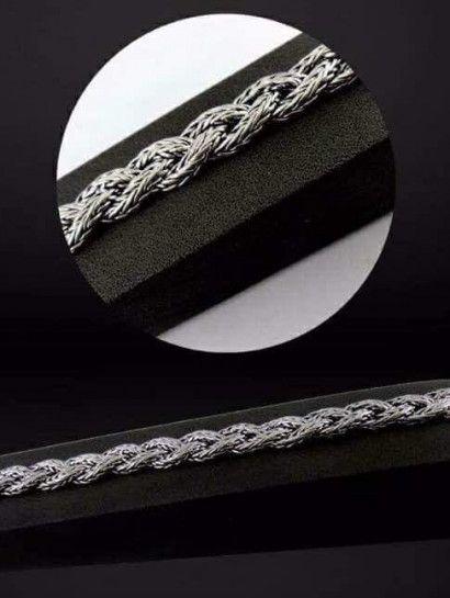 انسيال فضة عيار 925 انسيال رجالى فضة تايلاندى عيار 925 Jewelry Diamond Diamond Bracelet