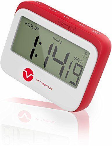 Magnétique Large LCD Digital Kitchen Timer Count-Down Up Horloge 24 H Loud Alarm