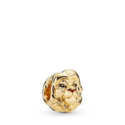 Pandora Disney, The Lion King Simba Charm - Enamel / 18ct Gold ...