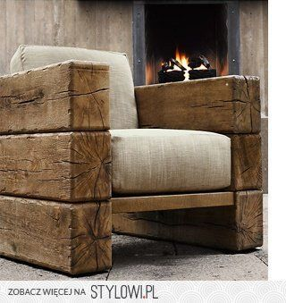 Railroad Tie Looking Chairs | Home Interiors | Pinterest | Railroad Ties,  Furniture Ideas And Mountain Decor