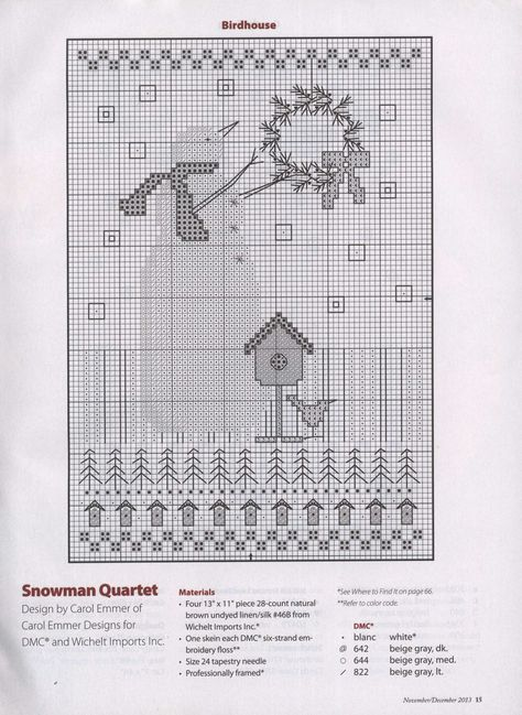 Christmas Scene # 704 Girl Basket Presents Holly Counted Cross Stitch Pattern